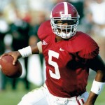 Former Alabama quarterback Andrew Zow broke school records for total offensive yards, passing yards and completions in his years at the Capstone. / Bryant Museum