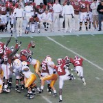 Terrence Cody blocks a field goal as time expires to secure Alabama's 12-10 victory over Tennessee last season. It was Cody's second blocked kick of the fourth quarter. / CW | John Michael Simpson