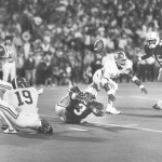 Van Tiffin kicks a 52-yard field goal to win the 1985 Iron Bowl 25-23 as time expires. / Bryant Museum