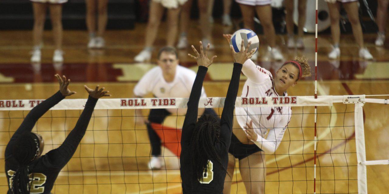 Crimson Tide Volleyball Dominates Alabama State