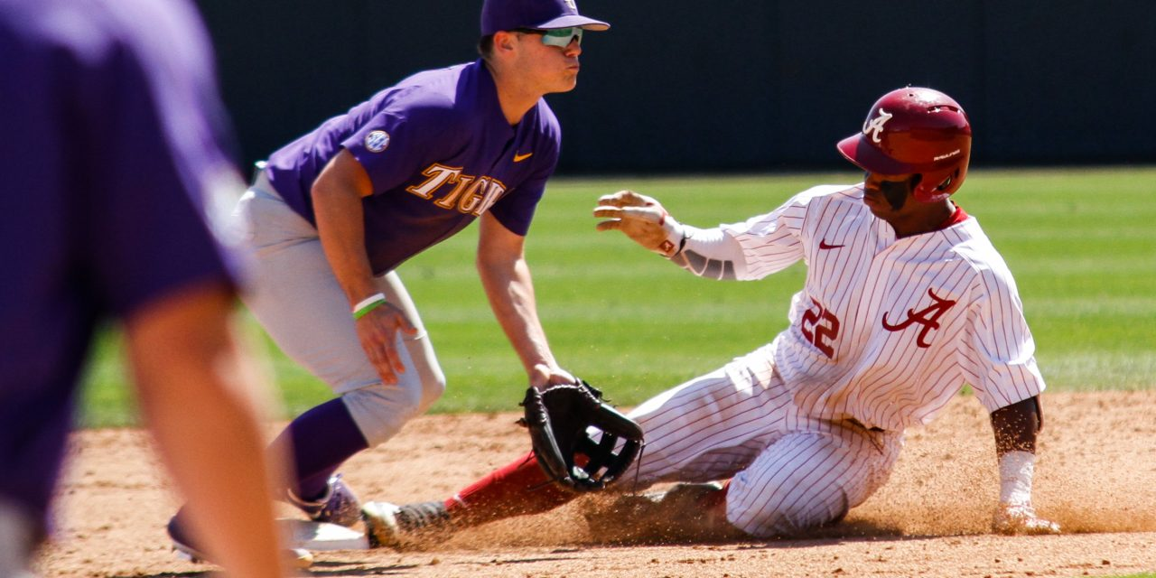 Alabama Downs LSU in Game One of Three Game Series