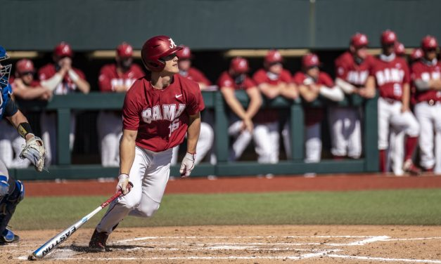 Alabama Sweeps McNeese with some Hot Bats